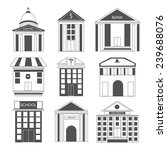 set of nine icons for house and ... | Shutterstock .eps vector #239688076