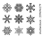 snowflakes flat icon set... | Shutterstock . vector #239696179