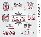 new year sale text  typography... | Shutterstock .eps vector #239696218