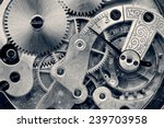 vintage clock machinery close...   Shutterstock . vector #239703958