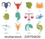 set of astrological zodiac... | Shutterstock .eps vector #239704630