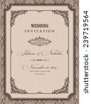 wedding invitation cards ... | Shutterstock .eps vector #239719564