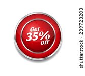 get 35 percent red vector icon... | Shutterstock .eps vector #239723203