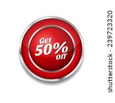 get 50 percent red vector icon... | Shutterstock .eps vector #239723320