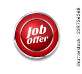 job offer red vector icon button | Shutterstock .eps vector #239736268