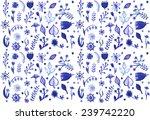 beautiful watercolor pattern...   Shutterstock .eps vector #239742220