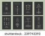 set of vector trendy cards with ... | Shutterstock .eps vector #239743393