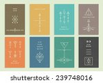 set of vector trendy cards with ... | Shutterstock .eps vector #239748016
