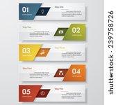design clean number banners... | Shutterstock .eps vector #239758726