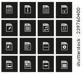 vector black file type icon set ... | Shutterstock .eps vector #239760400