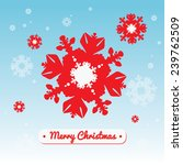 christmas card with snowflakes | Shutterstock .eps vector #239762509