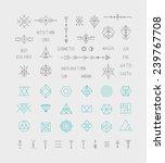 set of vector trendy geometric... | Shutterstock .eps vector #239767708
