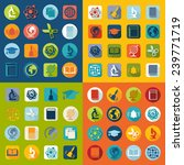 set of education flat icons | Shutterstock . vector #239771719