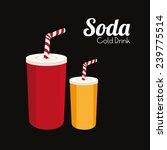 drink design over black... | Shutterstock .eps vector #239775514