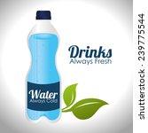 drink design over white... | Shutterstock .eps vector #239775544