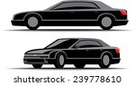 black car limousine front and... | Shutterstock .eps vector #239778610