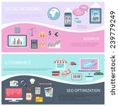 set of modern concepts in flat... | Shutterstock .eps vector #239779249