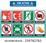 fire action emergency procedure ... | Shutterstock .eps vector #239782783