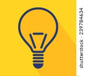 vector light bulb icon in flat...