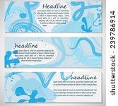 watercolor flyer template  ... | Shutterstock .eps vector #239786914