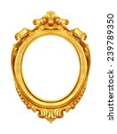 antique golden frame isolated... | Shutterstock . vector #239789350