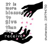 word it is more blessed to give ... | Shutterstock .eps vector #239794750