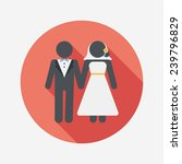 wedding couple flat icon with... | Shutterstock .eps vector #239796829