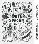 space elements doodles hand... | Shutterstock .eps vector #239809198
