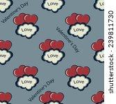 valentine's day vector seamless ... | Shutterstock .eps vector #239811730