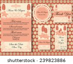 set of wedding invitation cards  | Shutterstock .eps vector #239823886