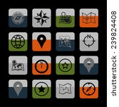 navigation icons | Shutterstock .eps vector #239824408
