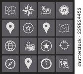 navigation icons | Shutterstock .eps vector #239824453