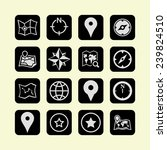 navigation icons | Shutterstock .eps vector #239824510