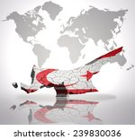 map of northern cyprus with...   Shutterstock . vector #239830036