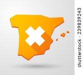 illustration of a spain map... | Shutterstock .eps vector #239839243