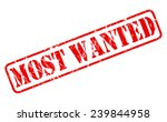 most wanted red stamp text on... | Shutterstock .eps vector #239844958