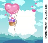 valentine's day card with air... | Shutterstock .eps vector #239851138