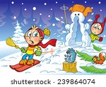 the illustration shows children ... | Shutterstock .eps vector #239864074