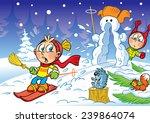 the illustration shows children ... | Shutterstock .eps vector #239864074