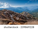 beautiful curvy roads on old... | Shutterstock . vector #239869228