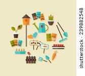 Illustration Of Gardening Icon...