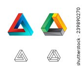 triangle abstract logo.... | Shutterstock .eps vector #239890270