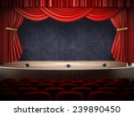 movie theater with open... | Shutterstock . vector #239890450