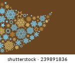 christmas background with stars | Shutterstock .eps vector #239891836
