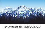 Vector Andes Mountains Forest...