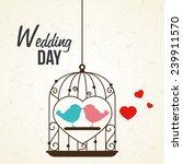 wedding design over white... | Shutterstock .eps vector #239911570