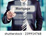 business man pressing mortgage...   Shutterstock . vector #239914768
