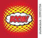 boom  wording sound effect set... | Shutterstock .eps vector #239915704