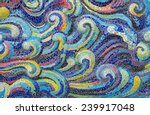 mosaic tiles wave of colorful ... | Shutterstock . vector #239917048