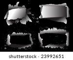 grunge frames for text | Shutterstock .eps vector #23992651